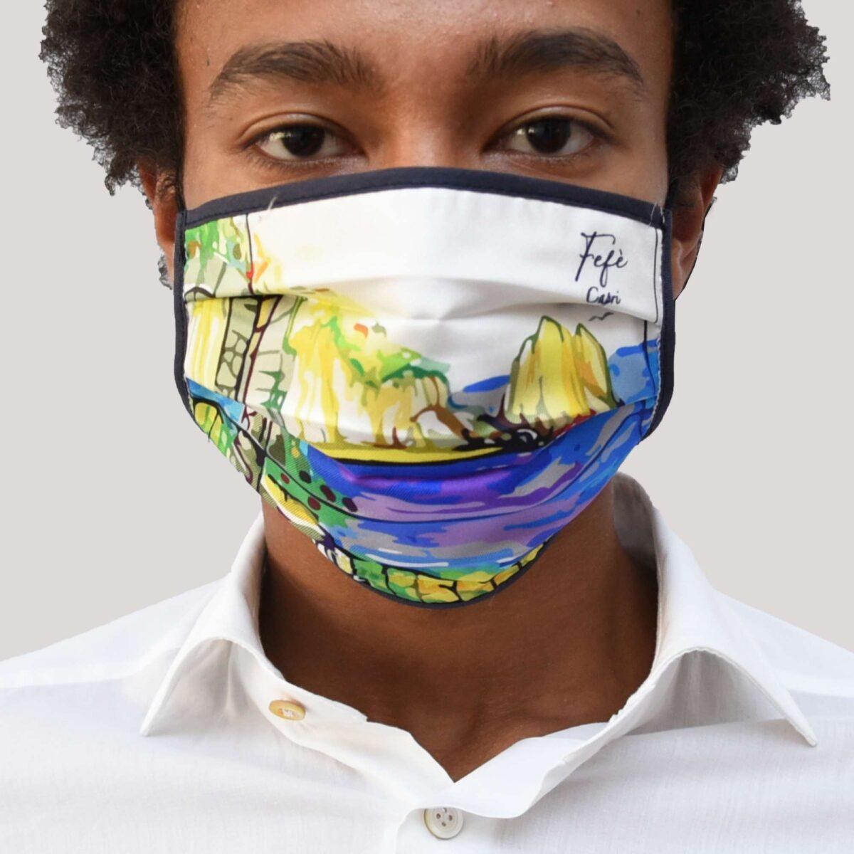mascherina anti covid in seta lavabile